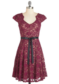 Sweet Staple Dress in Merlot