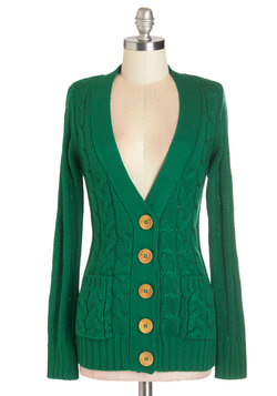 Your Fireside of the Story Cardigan in Emerald