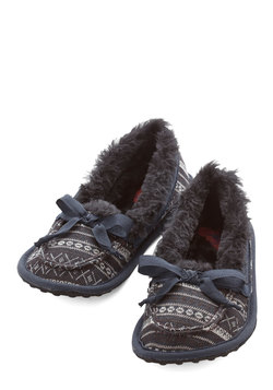 Where the Slumber Party At Slippers in Fair Isle