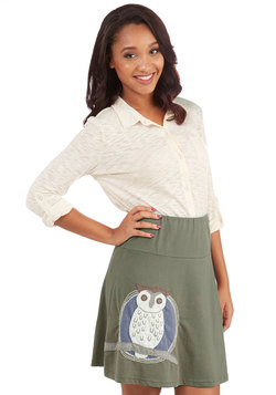 Owl at the Moon Skirt