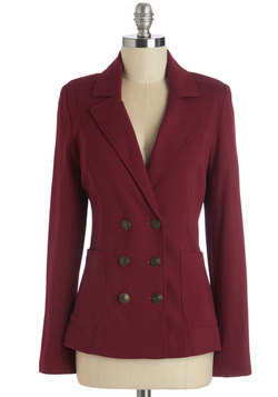 A Snappy Medium Blazer in Scarlet
