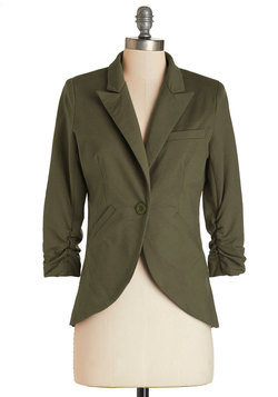 Fine and Sandy Blazer in Forest Green