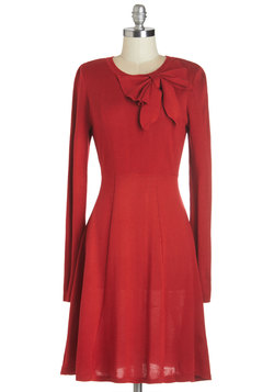 Underpinnings of Style Dress in Red