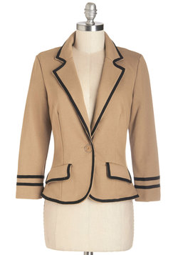 Academia Ahoy Blazer in Tan