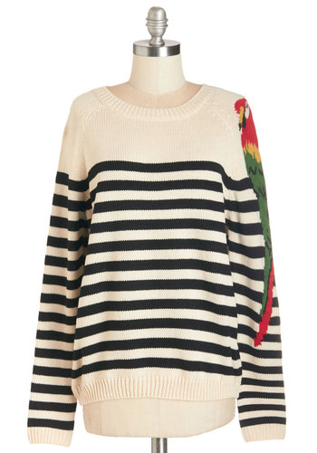 Parrot-y Artist Sweater