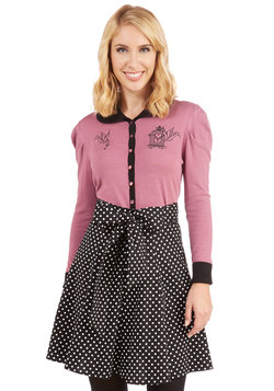 Musee Matisse Skirt in Black Dots