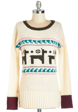 Make a Llama Story Short Sweater