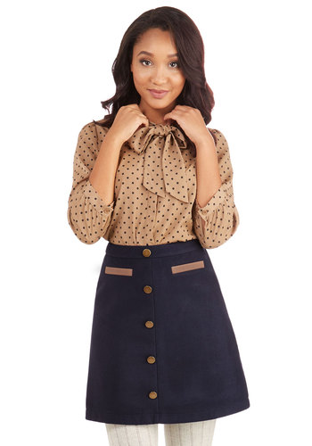 Back to Scholastic Skirt in Navy