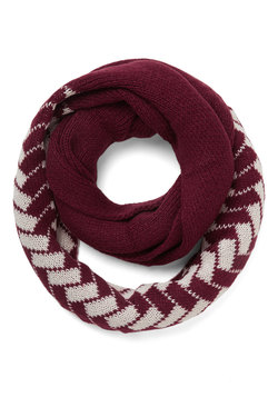 See the Sprig Picture Circle Scarf in Merlot Tile