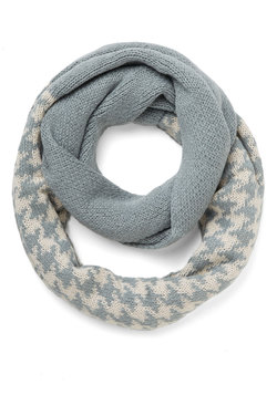 See the Sprig Picture Circle Scarf in Blue Houndstooth