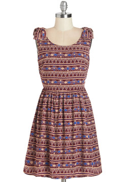 Museum Happy Hour Dress in Burgundy