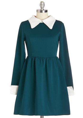Far Haute Dress in Teal