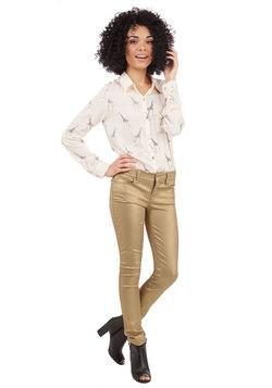 Metallic Moxie Pants