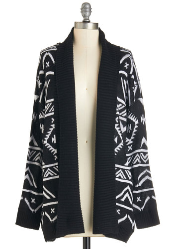 Cool and Cozy Cardigan in Monochrome