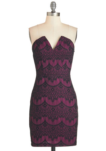 Call It a Date Night Dress in Magenta