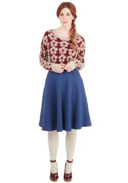 Simple Math Skirt in Blue