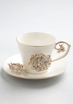 Gilded Up and Go Cup and Saucer Set