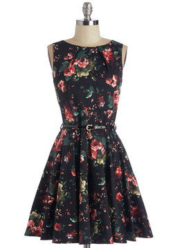 Luck Be a Lady Dress in Roses