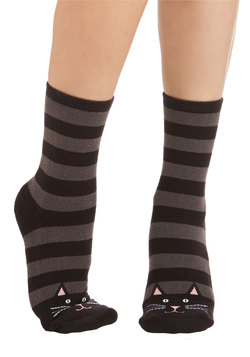 In Purr-suit of Perfection Slipper Socks