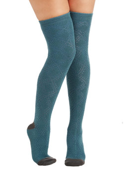 Stir Up Your Stride Socks in Teal