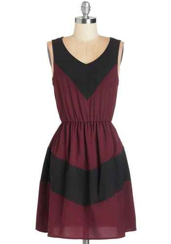 Afternoon of Architecture Dress in Burgundy