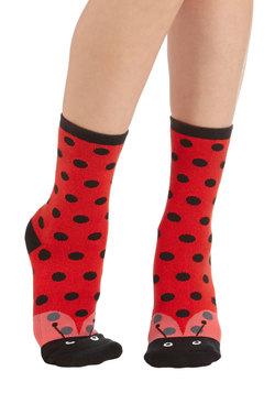 Three Times a Ladybug Socks