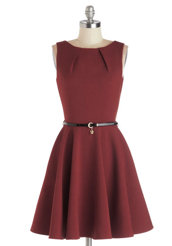 Luck Be a Lady Dress in Merlot