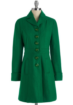 Verdant Virtues Coat in Green