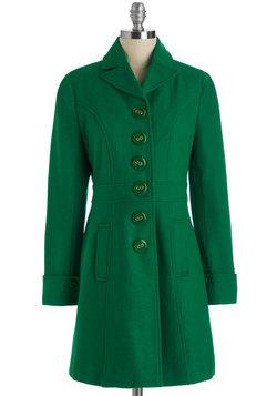 Verdant Virtues Coat in Green