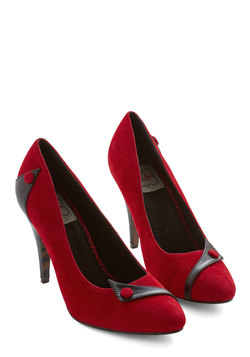 Sizzling Steps Heel in Red