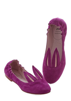 Little Bunny Shoe Shoe Flat in Magenta