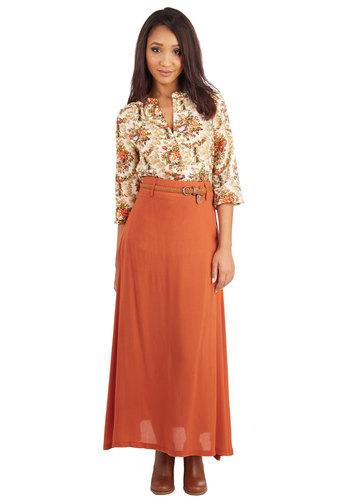 One of Ease Days Skirt in Orange