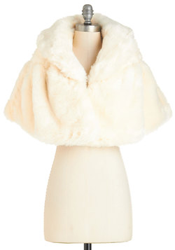 True Hollywood Glamour Cape in Ivory