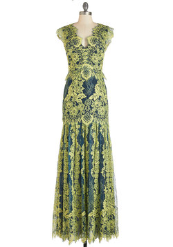 Night of a Lifetime Dress in Chartreuse