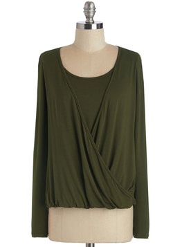 Audition Allure Top in Olive