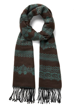 Rake the Best of It Scarf in Cocoa