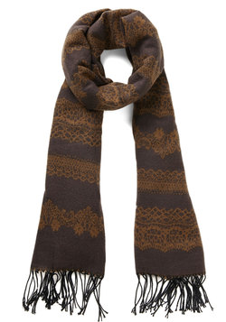 Rake the Best of It Scarf in Bark