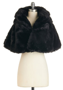 True Hollywood Glamour Cape in Noir