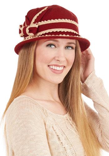 Floating on Era Hat in Crimson