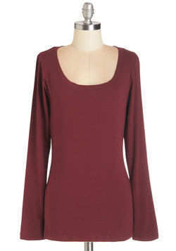 Simply Ink Top in Burgundy