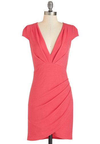 The Mingle Life Dress in Coral