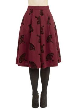 B. Jones Style Skirt in Wine