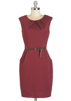 Teaching Classy Dress in Maroon