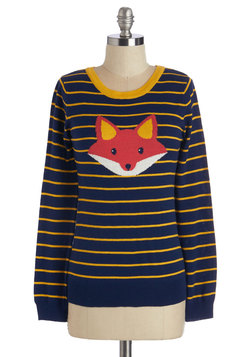 Cute Critter Fashion - Face the Fox Sweater