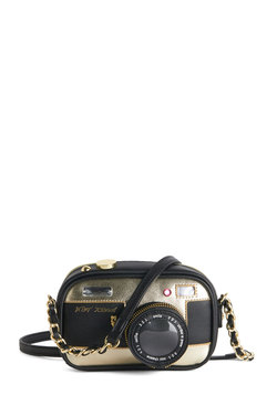 Betsey Johnson Photographic Charm Bag