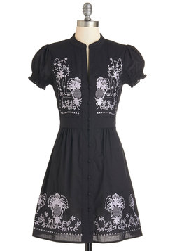 Needlework it Out Dress in Black