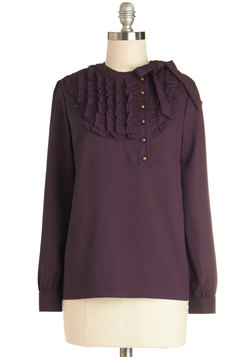 Tell Me in Calligraphy Top in Plum
