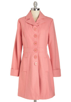 Verdant Virtues Coat in Pink