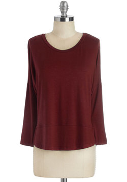Layer on Loveliness Top in Cranberry