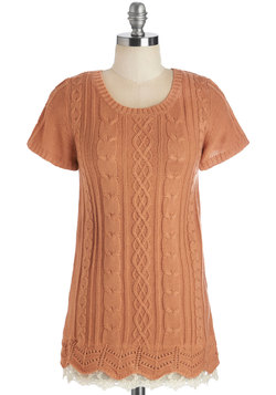 Touch of Something Delicate Top in Peach